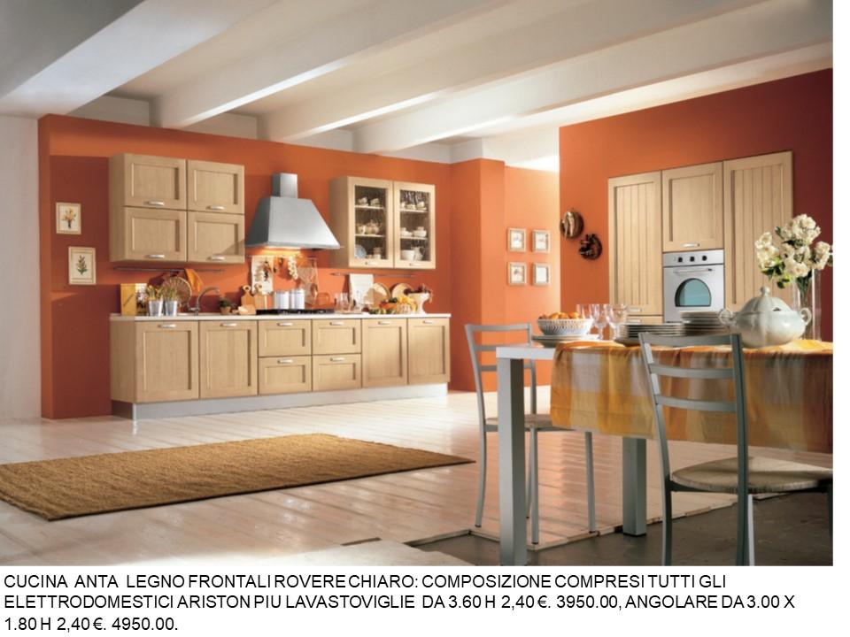 CUCINA ROVERE ANTE ROVERE/CHIARO N 113 C H | Falegnameria Chiola