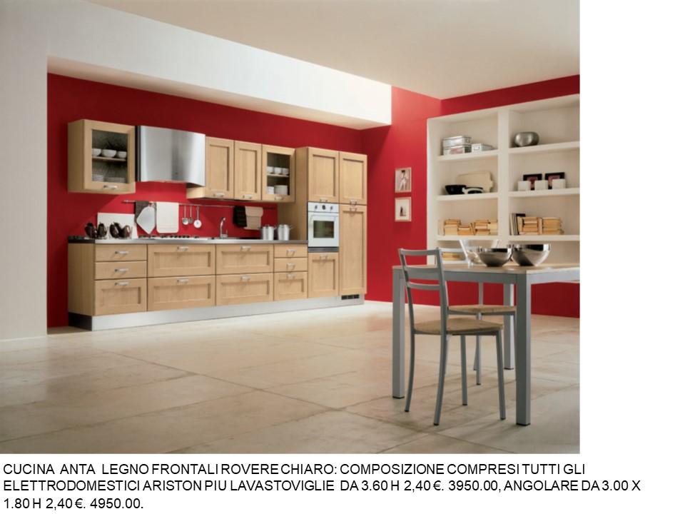 Cucine Moderne In Rovere Chiaro.Cucina Ante Rovere Chiaro N 114 C H Falegnameria Chiola