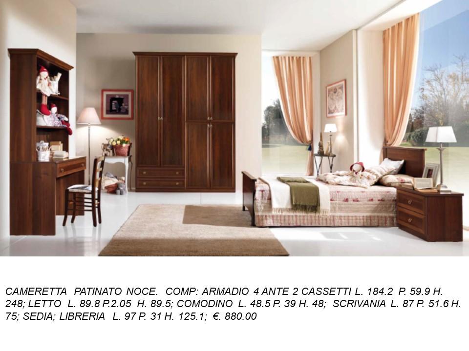 CAMERETTA CON ARMADIO 4 ANTE E DUE CASSETTI LATERALI N 34 ...