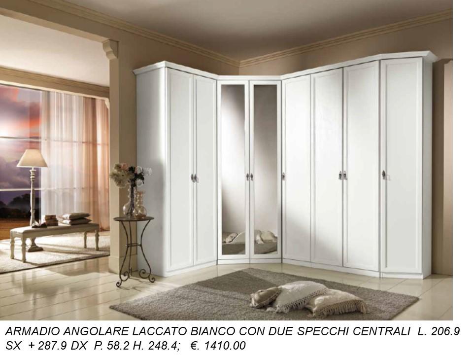 Armadi Ad Angolo Con Porte Scorrevoli.Aemadio Angolare Bianco Laccato N 35 C Mc Falegnameria Chiola