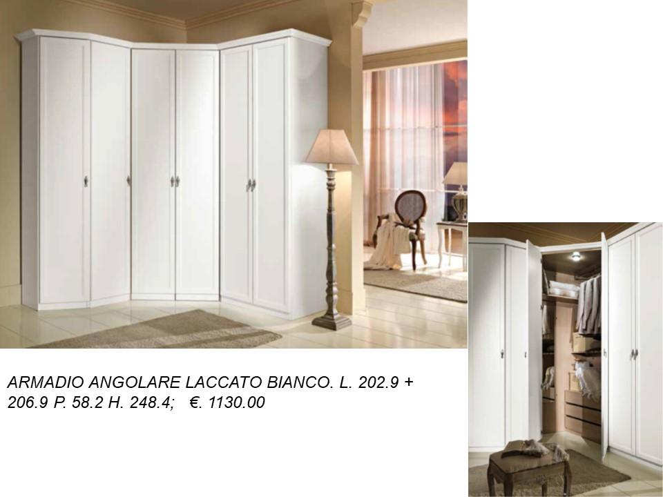 ARMADIO ANGOLARE AVORIO CON CABINA 6 ANTE N 36 C MC | Falegnameria ...
