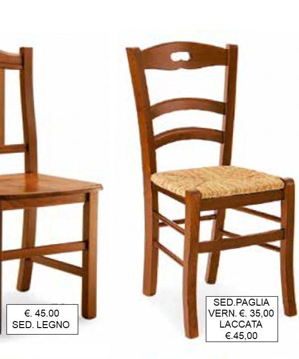 Falegnameria Chiola   Categorie prodotti OUTLET Sedie classiche.