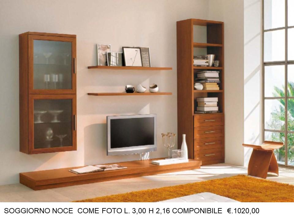 SOGGIORNO COMPONIBILE CON COLONNA LATERALE E PANCA N 91 C VI ...