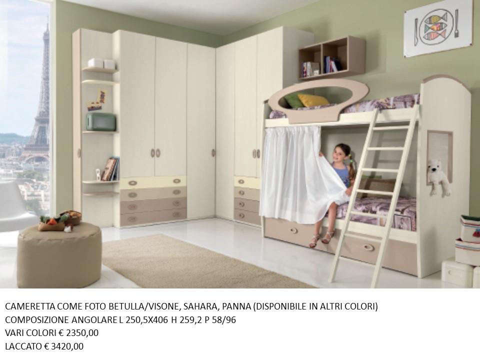 Letti A Castello Moderni.Cameretta Con Letto A Castello N 66 M Gg Falegnameria Chiola