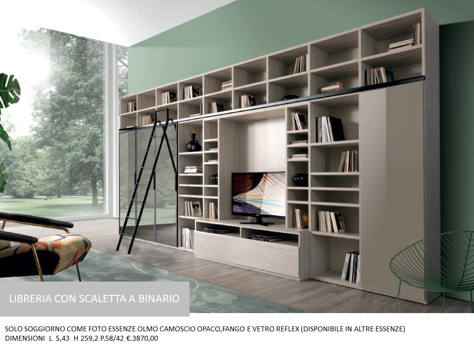Soggiorno Con Libreria E Vano Per Tv N 6 M Gg Falegnameria