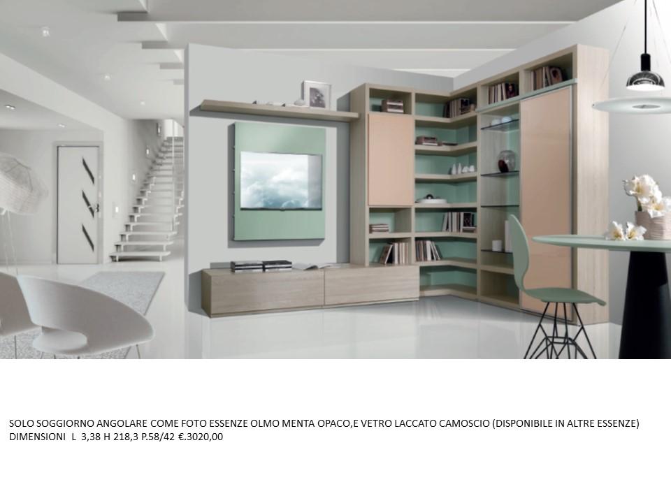 Soggiorno angolare moderno n 7 m gg falegnameria chiola for Soggiorni moderni angolari
