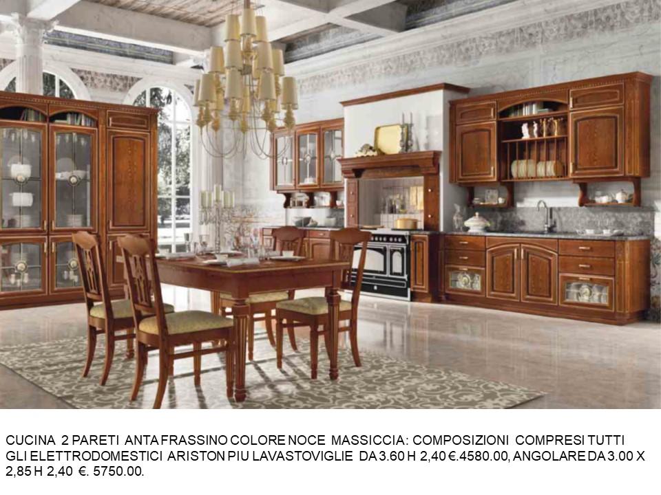 CUCINA 2 PARETI FRASSINO COLORE NECE N 135 C H | Falegnameria Chiola