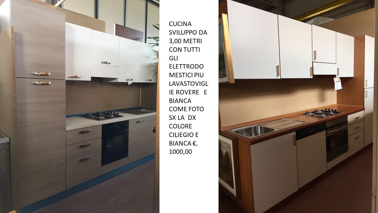 CUCINA ESPO DA 3,00 ROVERE BIANCA E BIANCA CILIEGIO N 3 ...
