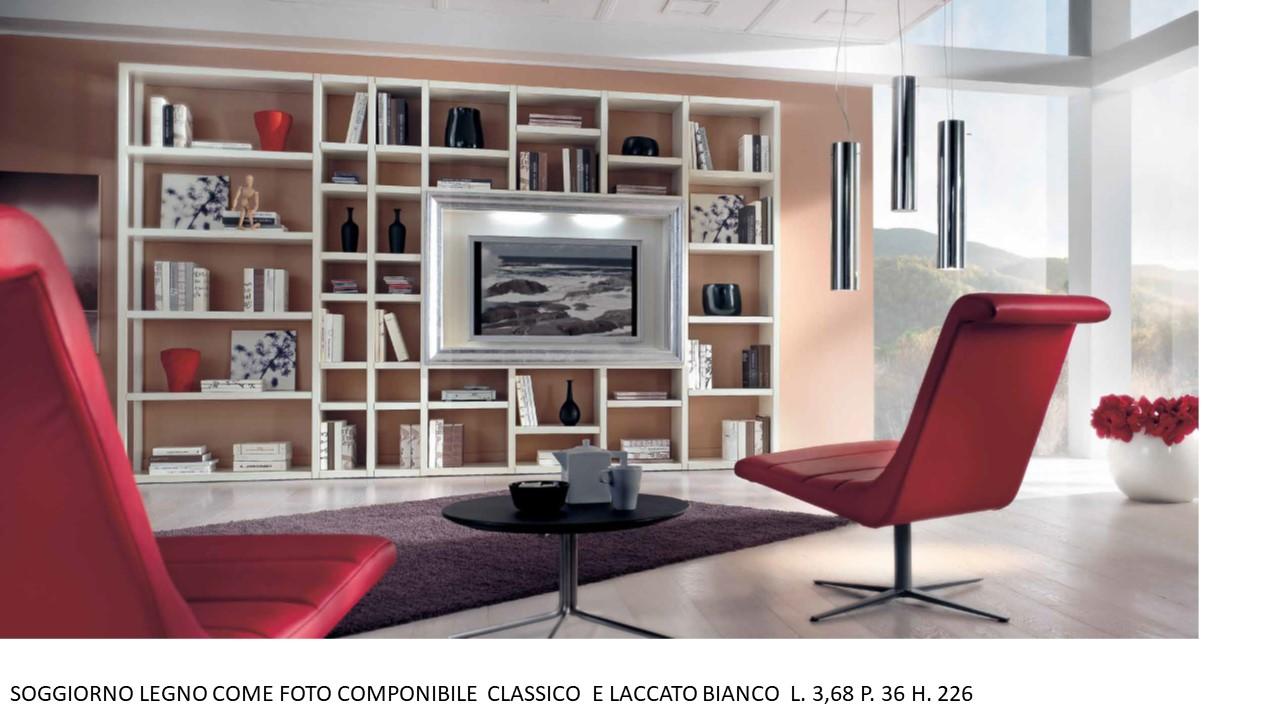 SOGGIORNO LEGNO COME FOTO COMPONIBILE CLASSICO E LACCATO ...