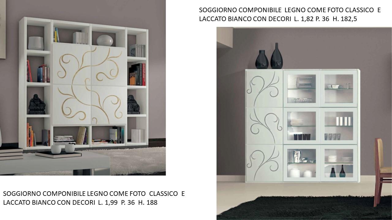 SOGGIORNO COMPONIBILE LEGNO COME FOTO CLASSICO E LACCATO ...
