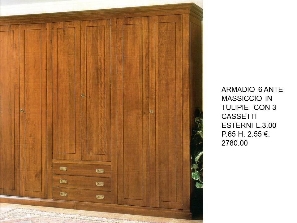 Armadio Con Cassetti Esterni.Camere Armadio 6 Porte Con 3 Cassetti Esterni N 87 C To Falegnameria Chiola