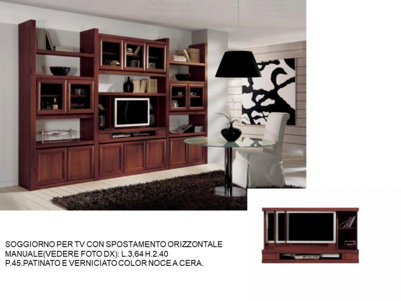 SOGGIORNO PER TV CON SPOSTAMENTO ORIZZONTALE MANUALE.N 4 C ...