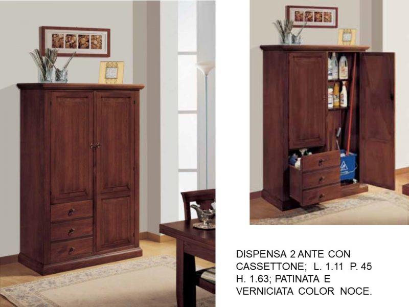 DISPENSA 2 ANTE CON CASSETTONE.N 47 C IS DE   Falegnameria ...
