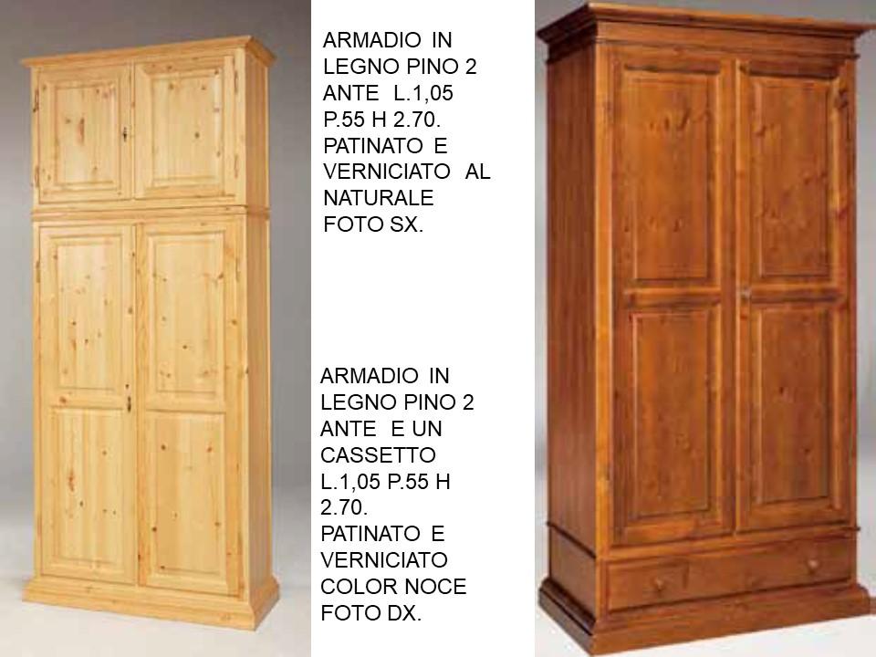 ARMADIO IN LEGNO PINO 2 ANTE E ARMADIO IN LEGNO PINO 2 ...