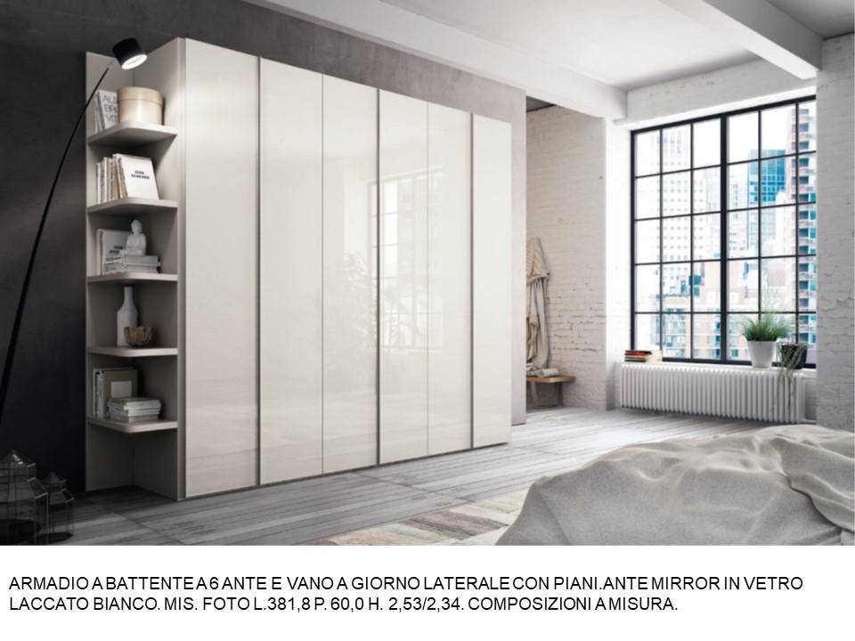 ARMADIO A BATTENTE A 6 ANTE E VANO A GIORNO LATERALE CON ...